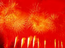 Amazing fireworks explosion Royalty Free Stock Photo