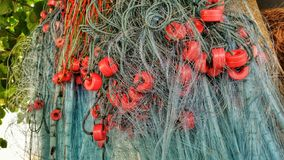 Amazing fishing net Stock Images