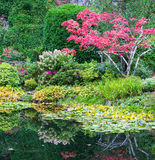 Amazing floral park Butchart Gardens Royalty Free Stock Images