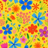 Amazing Floral Vector Seamless Pattern Royalty Free Stock Photos