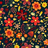Amazing Floral Vector Seamless Pattern Of Flowers Stock Photo