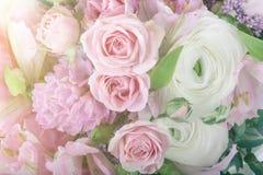 Amazing flower bouquet arrangement close up Stock Photos