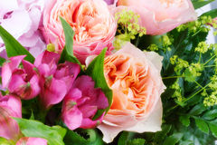 Amazing flower bouquet with roses Royalty Free Stock Photo