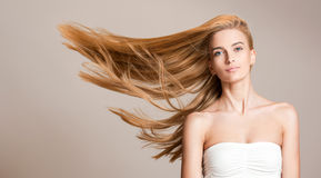 Amazing flowing hair. Stock Photo