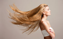 Amazing flowing hair. Stock Photography