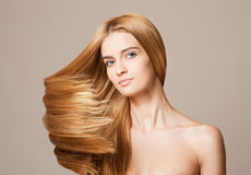 Amazing flowing hair. Royalty Free Stock Photos