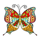 Amazing fly butterfly Stock Photo