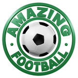 Amazing Football circular design Stock Image
