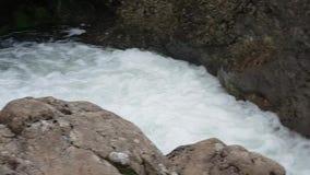 Waterfall stone river in isle of skye stock video footage