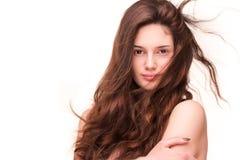 Amazing full hair. Royalty Free Stock Photo