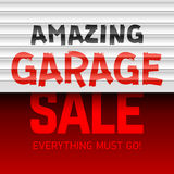 Amazing Garage Sale poster Stock Photos