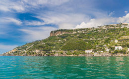 Amazing generic view on Amalfi coast from town of Maiori, Campania region, Italy stock images