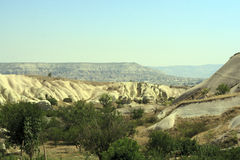 Amazing geological features in Cappadocia Royalty Free Stock Photography
