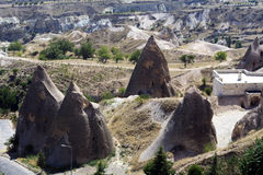 Amazing geological features in Cappadocia Royalty Free Stock Image