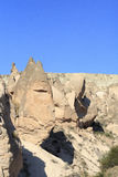 Amazing geological features in Cappadocia Royalty Free Stock Photos