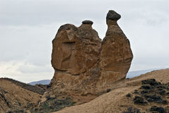 Amazing geological features in Dervent valley. stock photography