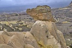 Amazing geological features near town Urgup. royalty free stock images