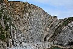 Amazing geology of Stair Hole on the Jurassic Coast Royalty Free Stock Images
