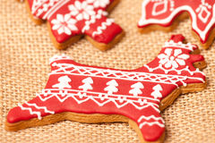 Amazing gingerbread cookies Stock Images