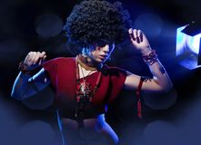 Amazing girl with afro Stock Photography