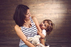 Amazing Girl with Mother Royalty Free Stock Images
