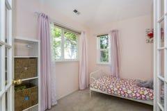 Amazing girl`s bedroom in pink tones. Stock Images