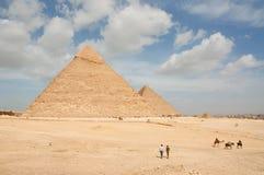Amazing Giza Pyramids. Amazing Scene with Giza Pyramids Stock Photography