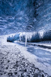 Amazing glacial cave Stock Photos