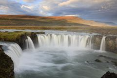 Amazing Godafoss waterfall in Iceland royalty free stock images