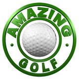 Amazing Golf circular design Stock Images