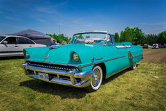 Amazing gorgeous front side view of classic retro vintage car Stock Images