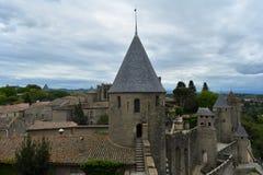 Carcassonne, France. Gothic castle. stock image