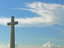 Amazing Grace. A Cross and a Beautiful Sky Royalty Free Stock Photos