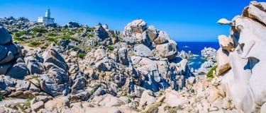 Amazing granite rock formations in Capo Testa in north Sardinia, Italy Royalty Free Stock Photo
