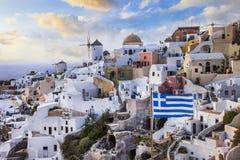 Amazing  Greece - Santorini island Stock Photography