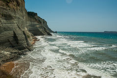 Amazing green beach Greece Corfu Stock Image