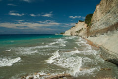 Amazing green beach Greece Corfu Stock Images