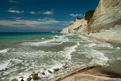 Amazing green beach Greece Corfu Royalty Free Stock Photography