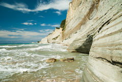 Amazing green beach Greece Corfu Royalty Free Stock Photo