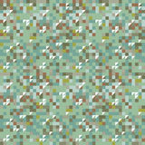 Amazing green colorful vintage geometric pattern Stock Photography