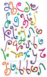 Amazing hand drawn Alphabet. With buttons Royalty Free Stock Photo