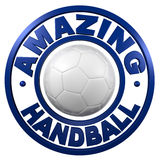 Amazing Handball circular design Stock Image