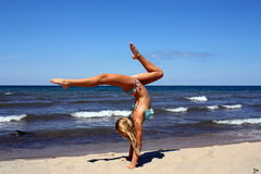 Amazing handstand Royalty Free Stock Image