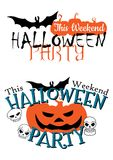 Amazing happy Halloween party invitation Stock Photography