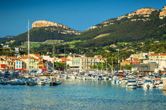Amazing harbor with mediterranean houses, Cassis, France, Europe Royalty Free Stock Photo