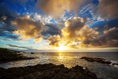 Hawaiian beach at sunrise Royalty Free Stock Photos
