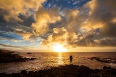 Hawaiian beach at sunrise Stock Image