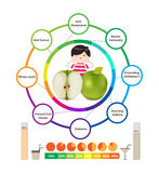 Amazing Health Benefits of apples Stock Images