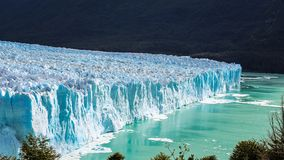 Amazing high view of the Glacier Perito Moreno National Park in Patagonia, Argentina royalty free stock photo
