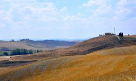 Amazing hills of Tuscany , Italy Royalty Free Stock Images